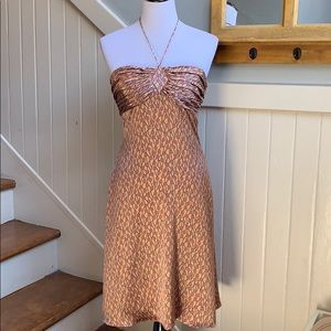 Tocca Silk Halter Dress